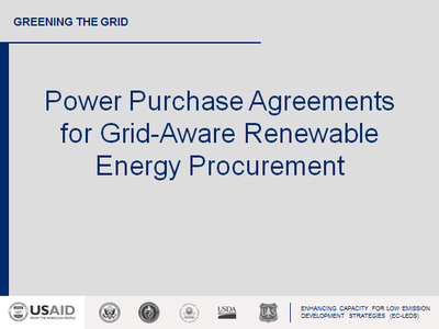Power Purchase Agreements for Grid-Aware Renewable Energy Procurement